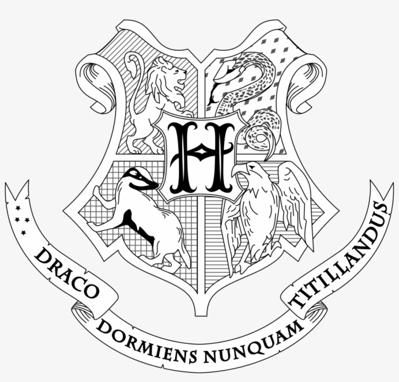 Coloring Page For Beatiful Draw Kids And - Harry Potter Coloring Pages Hogwarts Crest, transparent png #8963155