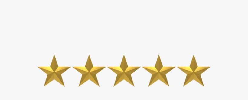 Five-star - 5 Golden Stars Png, transparent png #8967215