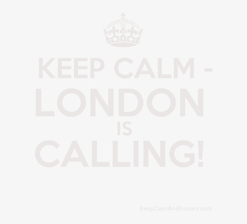 London Is Calling Poster - Poster, transparent png #8967386