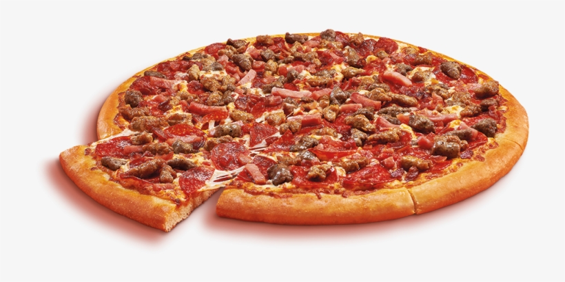 Pizza Pizza Little Caesars - Little Caesars 5 Meat Pizza, transparent png #8968140
