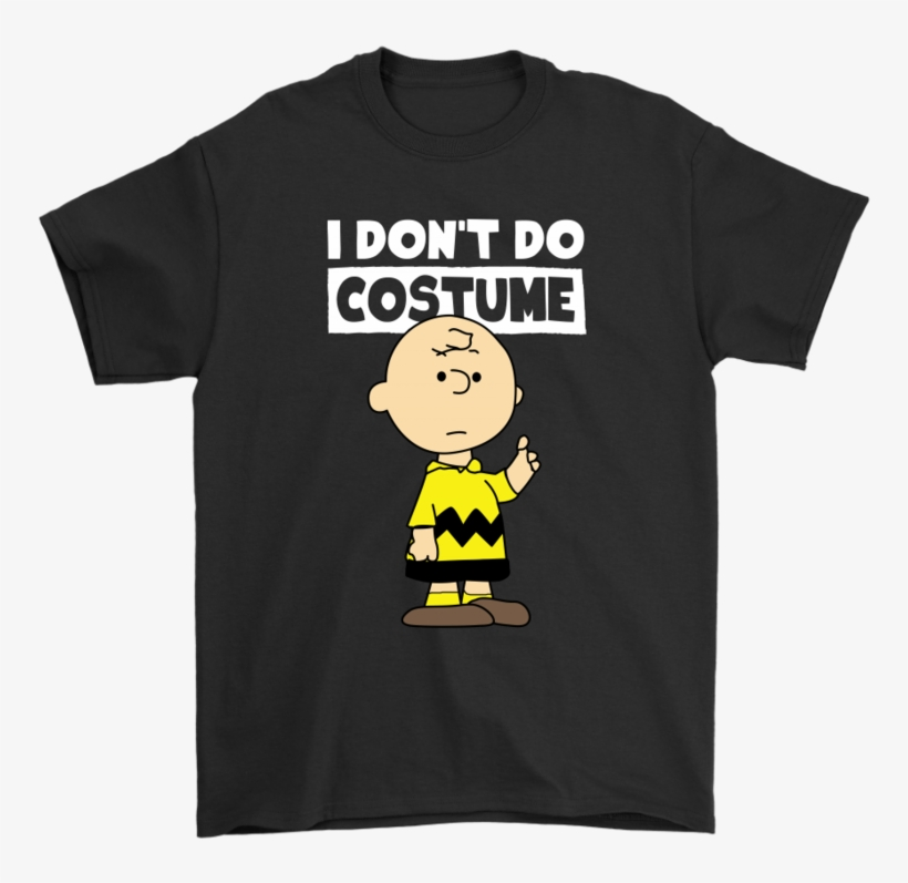 I Don't Do Costume Halloween Peanuts Charlie Brown - We Re Just Two Lost Souls Swimming Fish Bowl, transparent png #8970343