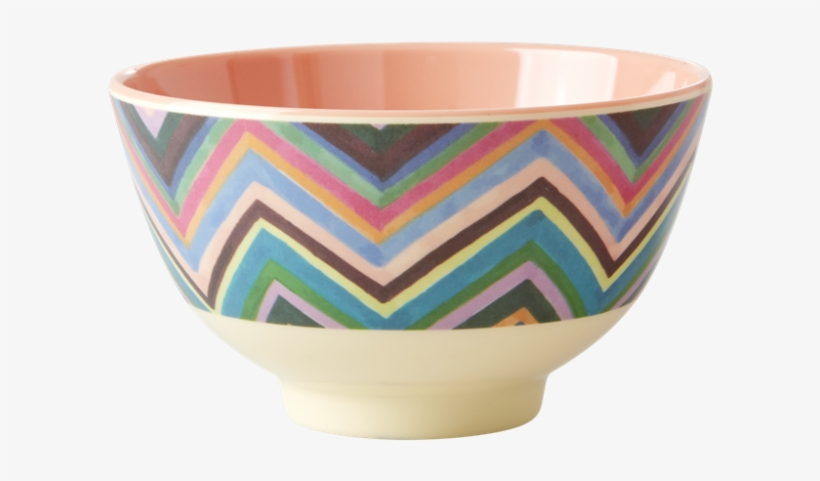Zig Zag Print Small Melamine Bowl By Rice Dk - Bowl, transparent png #8971278