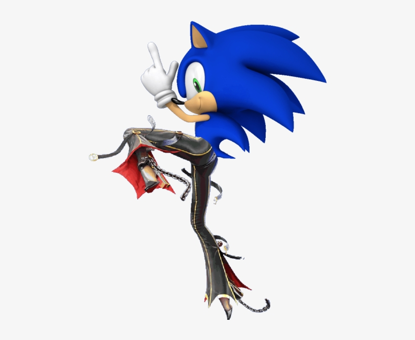 Bayonetta's Legs Where They Shouldn't Be Legs On Sonic - If You Wanted To Go To Heaven But God Said, transparent png #8977874