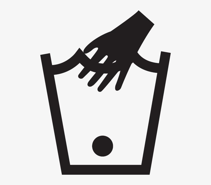 Hand Type Washing Care Instruction Wash Hand Wash In Warm