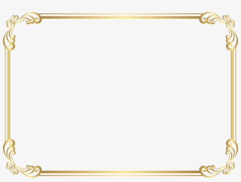 Frame Border Clip Art Png Image - Transparent Gold Border Frame Png, transparent png #8985191