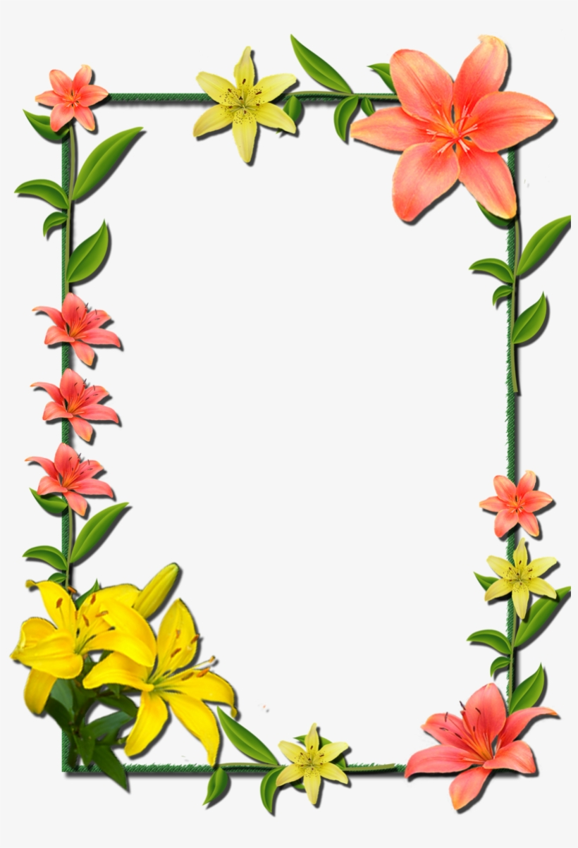 And Picture Flower Frame Frames Borders - Flower Photo Frame Design, transparent png #8985305
