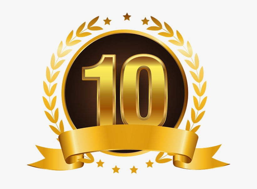 10 Number Png High Quality Image - 10th Anniversary Gold Theme, transparent png #8988240