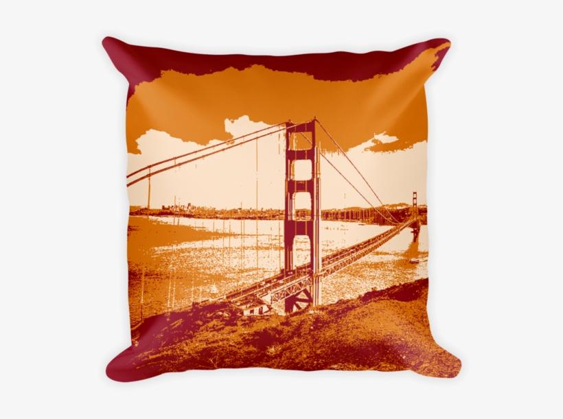San Francisco Golden Gate Bridge Throw Pillow - Never Say I Can T Ask Yourself, transparent png #8991544
