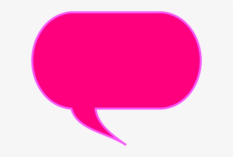 Pink Speech Bubble Png - Speech Bubble Pink Png, transparent png #90120