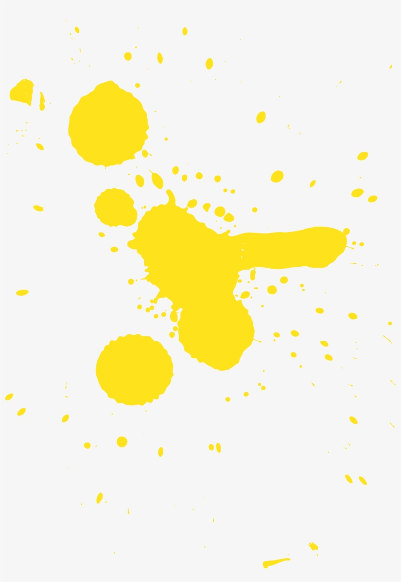 Yellow Paint Splatter Png - Yellow Paint Splat Png, transparent png #91265