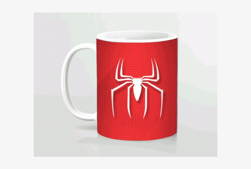 Spiderman Logo Printed Mug - Coffee Cup, transparent png #91519