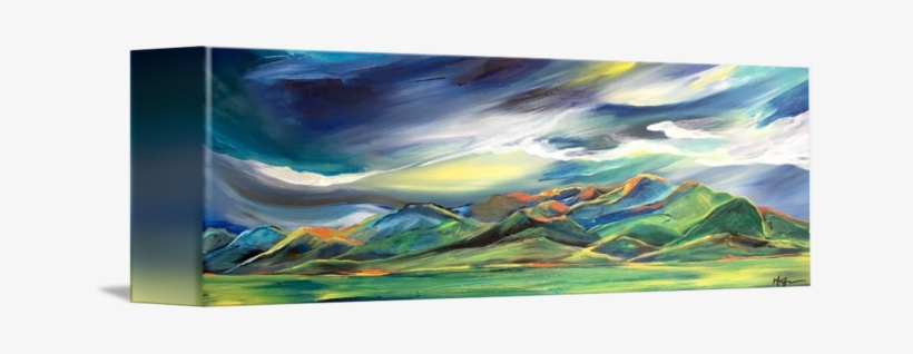Dancing Sunlight On The Bridgers - Nice Transparent Watercolor Painting New, transparent png #91723