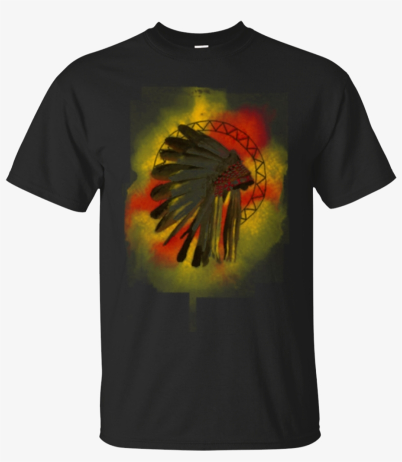 Watercolor Native American Headdress T Shirt Gildan - T-shirt, transparent png #92479