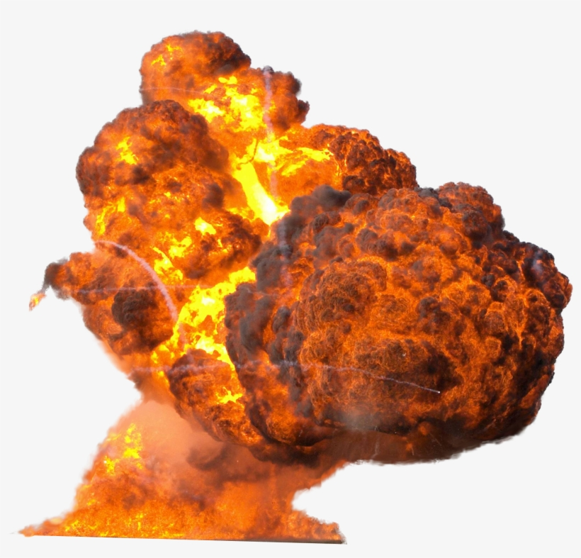 Big Explosion With Fire And Smoke Png Image - Explosion Transparent, transparent png #92820