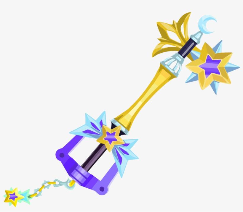 Starlight Keyblade From Kingdom Hearts Unchained - Kingdom Hearts Star Keyblade, transparent png #92965