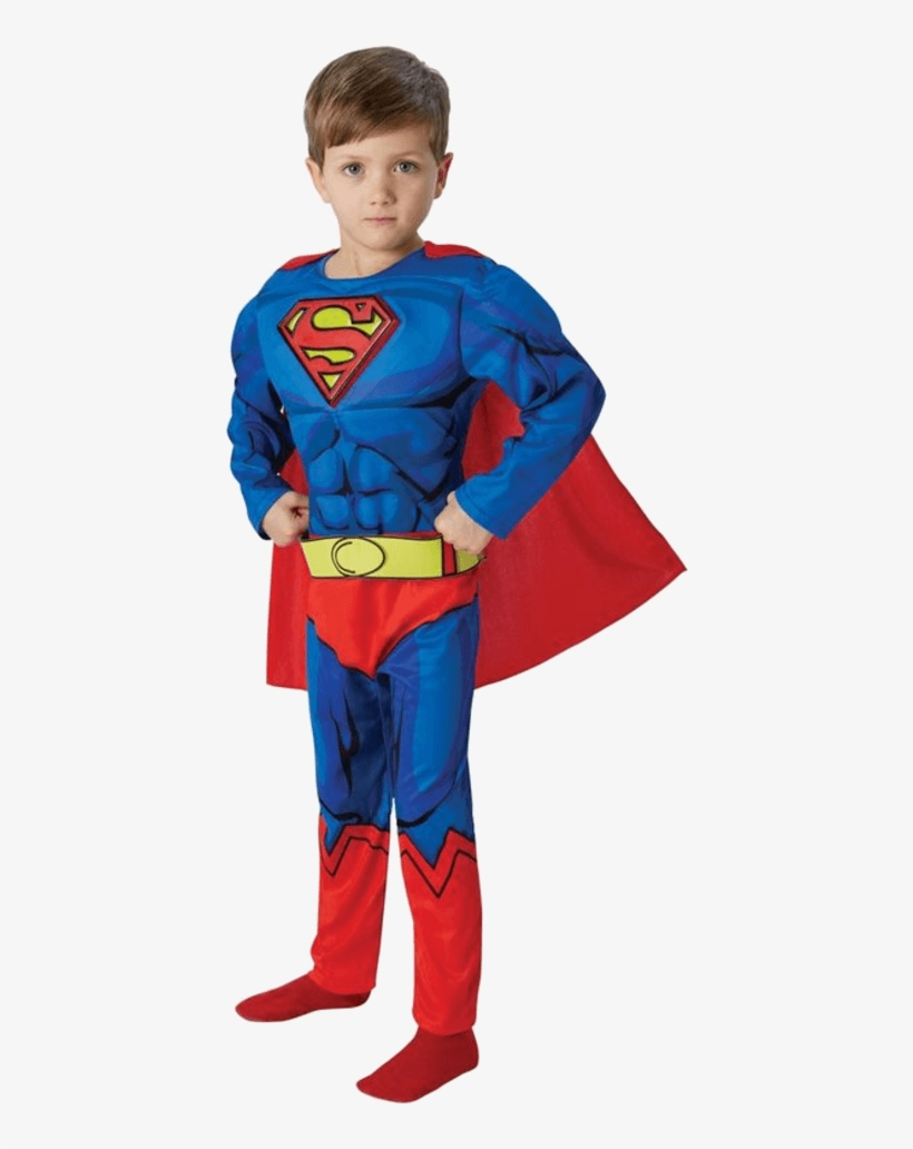Child Deluxe Comic Book Superman Costume - Superman Costume 7 8, transparent png #93394