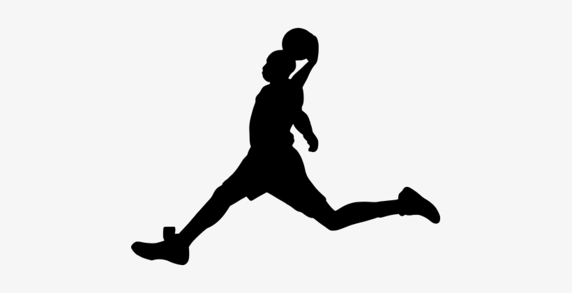 Silhouette, Basketball, Activity - Basketball, transparent png #93989