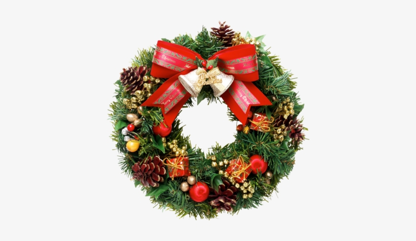 Christmas Wreath Png Clipart - Real Christmas Wreath Png, transparent png #94249