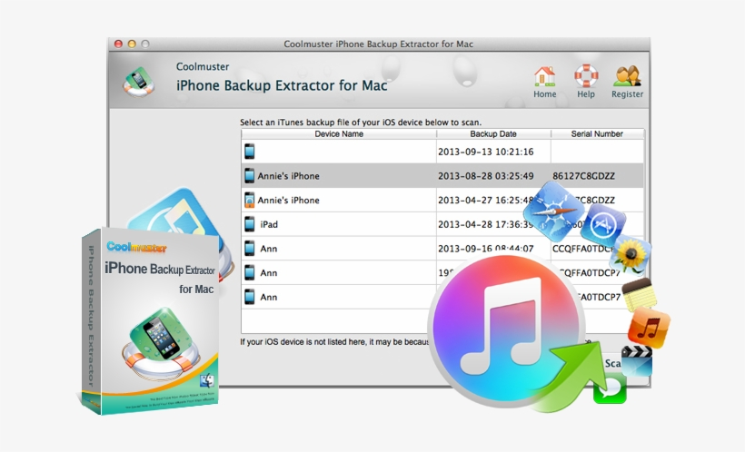 Iphone Backup Extractor For Mac - Itunes - Free Transparent PNG