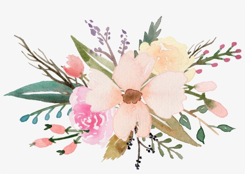 Flower Bouquet - Watercolour Flower Clipart Free, transparent png #94624