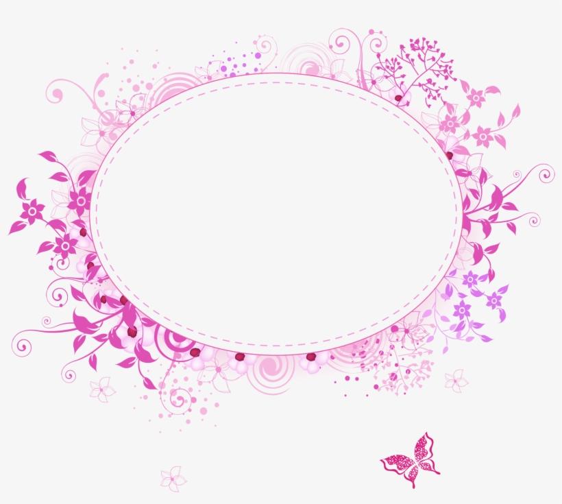 Pink Flower Frame Png Transpa Image Pink Flower Frame - Png Transparent Flower Frame Png, transparent png #94953