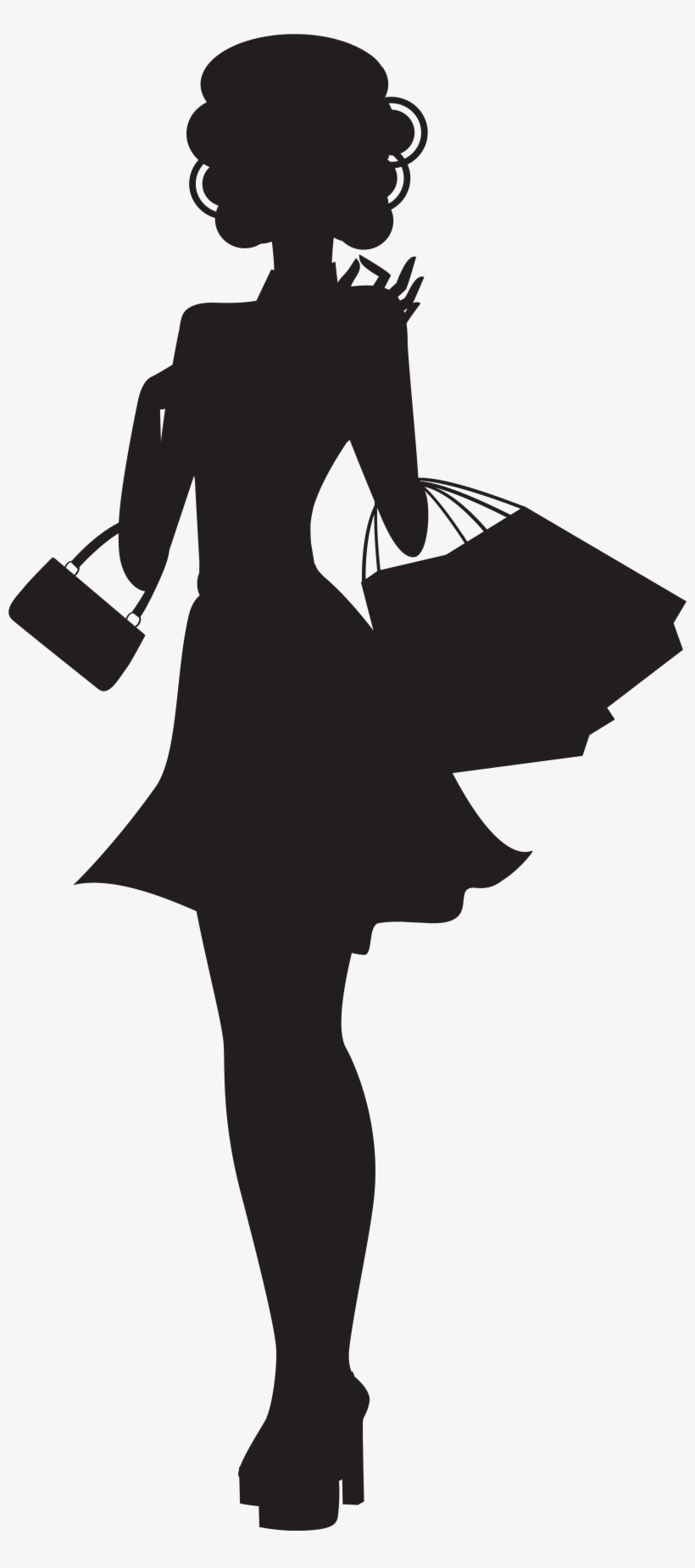 Woman Shopping Silhouette Png, transparent png #95157