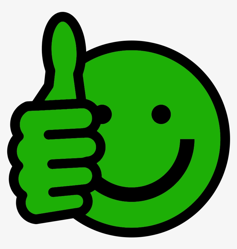 Thumbs Up Smiley - Thumbs Up Emoji Green, transparent png #95176