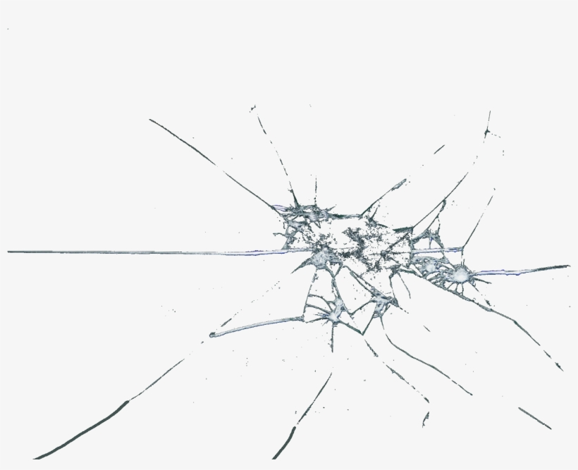 Broken Clipart Shattering Glass - Broken Cracked Glass Png, transparent png #95307