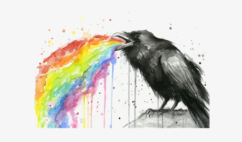 Click And Drag To Re-position The Image, If Desired - Raven Rainbow, transparent png #95308