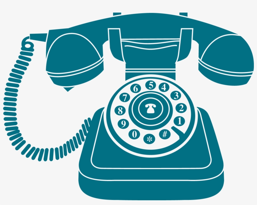 Vintage Blue Phone Icon - Vintage Phone Logo Png, transparent png #95659