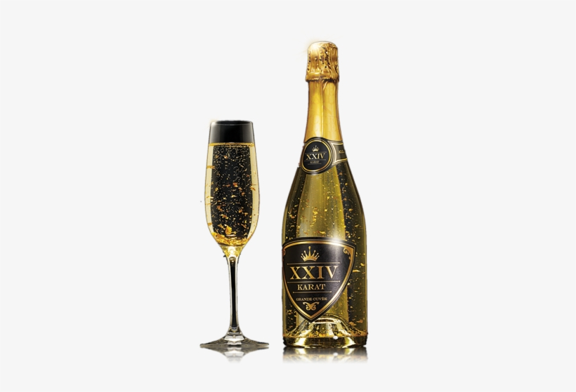Gold Wine Glass Png Png Black And White Download - Golden Wine Bottle Png, transparent png #95782