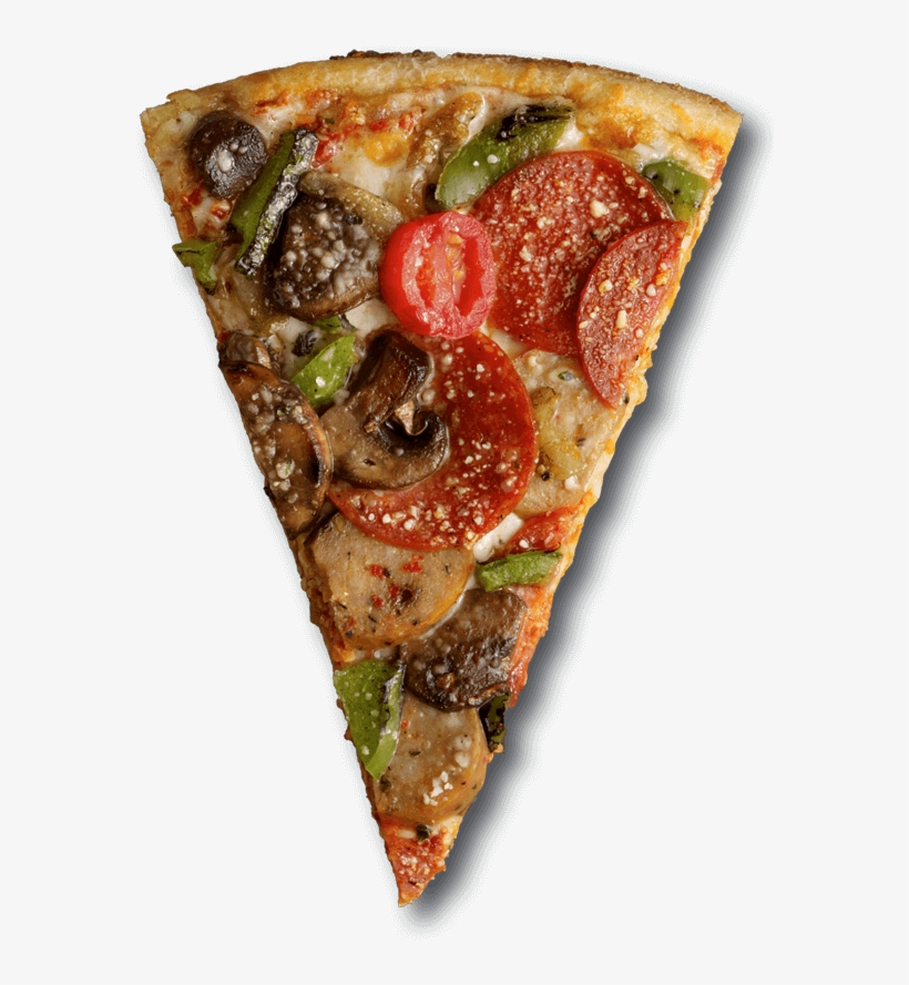Uncured - Pizza Slice Top View Png, transparent png #95819