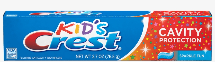 Kid's Crest Cavity Protection Sparkle Fun Toothpaste - Kids Crest Toothpaste, transparent png #96400
