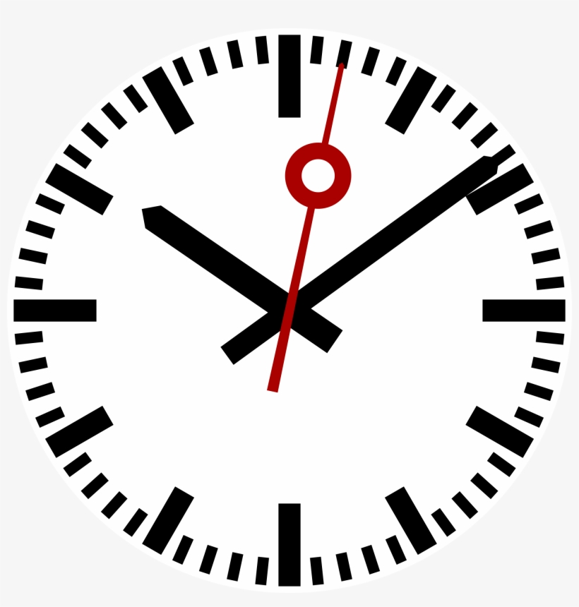 Download And Use Clock Png Clipart - Swiss Railway Clock Face, transparent png #96566