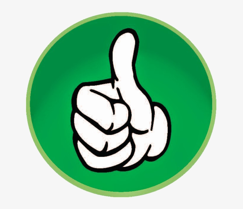 Thumb Up - Green Thumbs Up Transparent Background, transparent png #97058