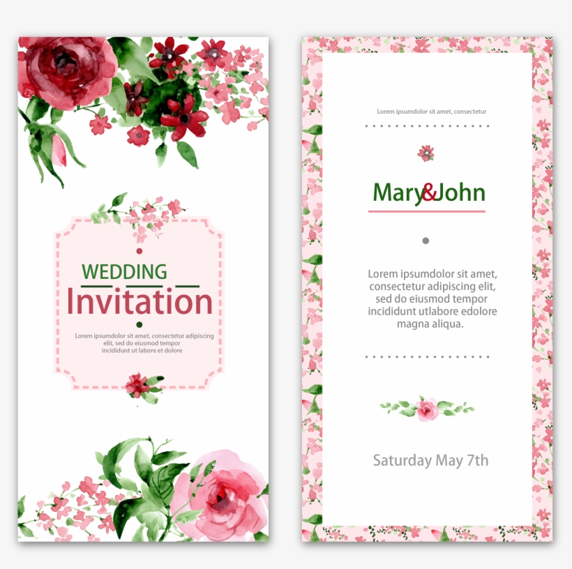 Wedding Invitation Watercolor Painting Flower - Friendship Day Card With Flower, transparent png #97277