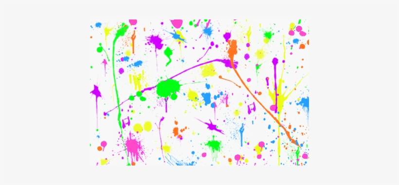 Neon Paint Splatter Png, transparent png #97358