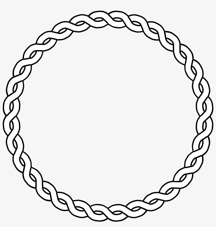 Circle design. Clipart rope black white
