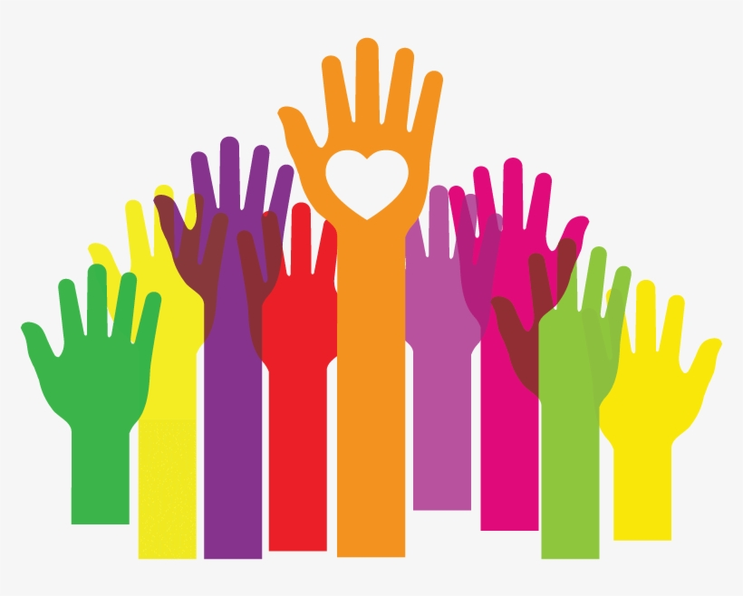 Hands Up Clipart Png - Hands To Larger Service, transparent png #97765