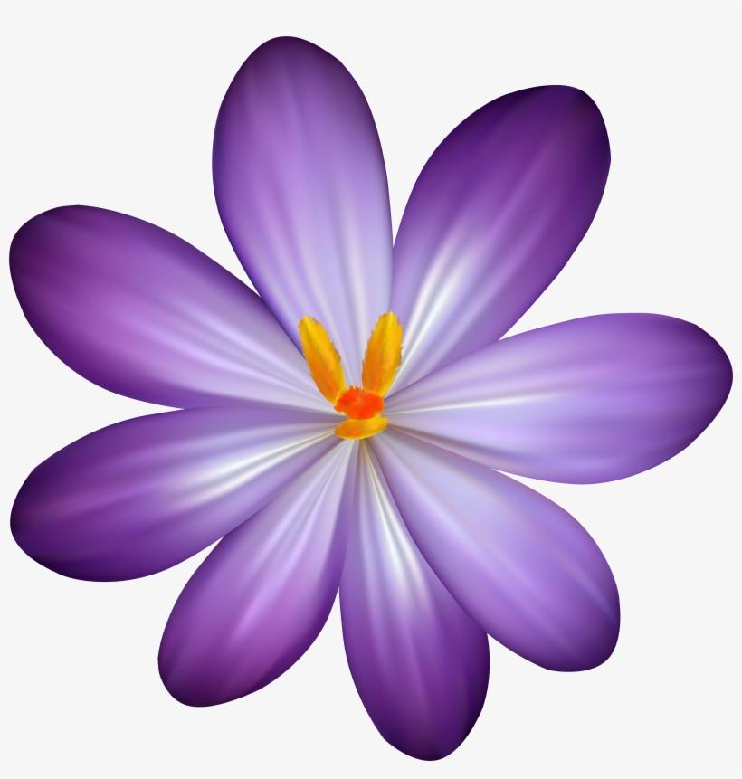 Watercolor Purple Flowers Clip Art Boho Bouquet Floral - Tropical Purple Flower Png, transparent png #97857