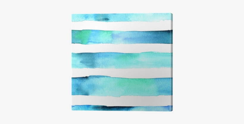 Seamless Abstract Watercolor Texture With Teal Blue - Watercolor Paint, transparent png #98369