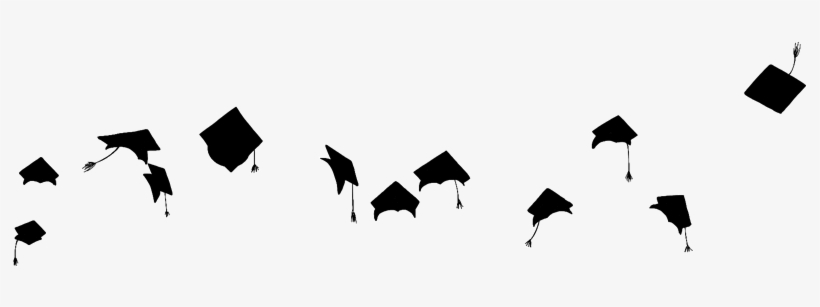 Report Abuse - Flying Graduation Hats Png, transparent png #99570