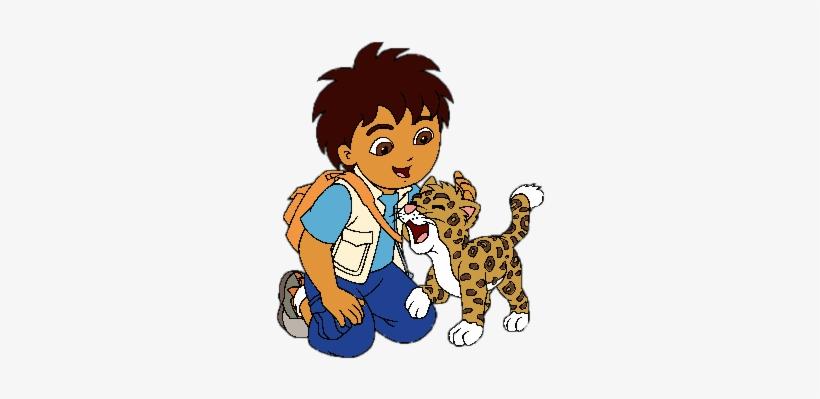 Diego Stroking Jaguar Png - Go Diego Go Y Bebe Jaguar, transparent png #900265