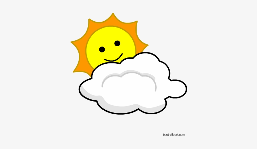 Cloud And Smiling Sun Free Clipart Image - Portable Network