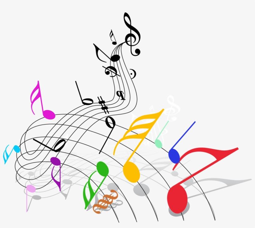 Music Clipart Abstract - Notas Musicales De Colores En Png, transparent png #903091