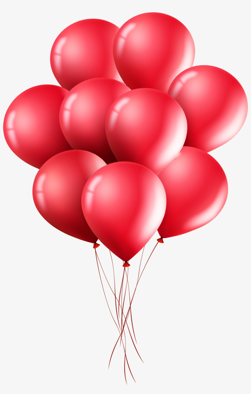 Clipart Balloons Red Transparent Background Red Balloons Png Free Transparent Png Download Pngkey