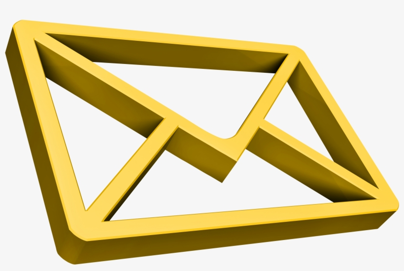 Gold Email Icon Dpc - Email Icons Gold, transparent png #903917