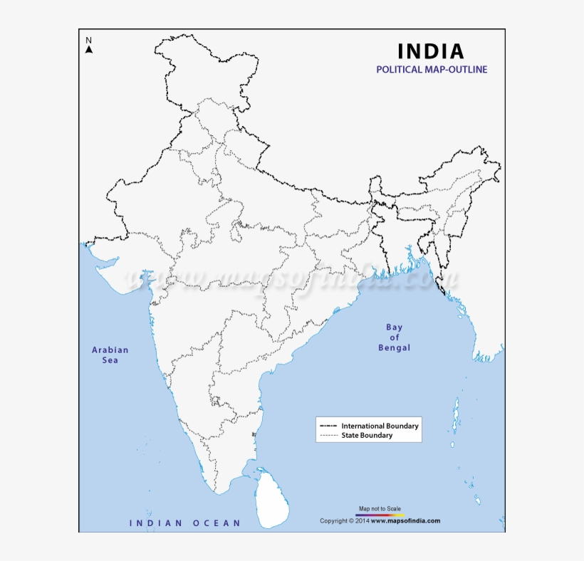 Indian Political Map Outline India Political Map Outline   Free Transparent PNG Download   PNGkey