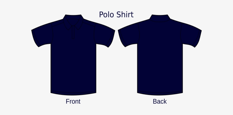 Small Navy Blue Polo T Shirt Template Free Transparent