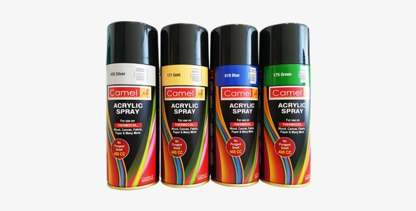 Camel Spray Paint 5 Items - Camlin Acrylic Spray Paint, transparent png #907783